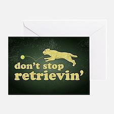 retrievin-distressedbgyel3555 Greeting Card