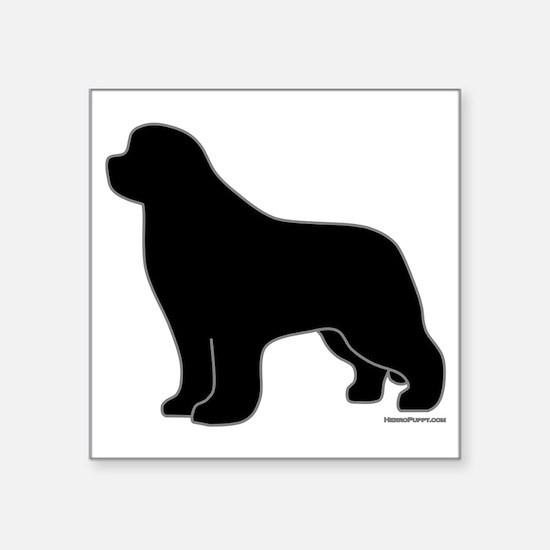 "BlackSilhouette_newstyle Square Sticker 3"" x 3"""