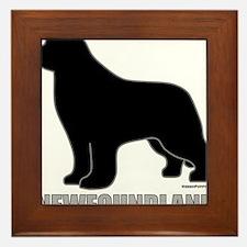 BlackNewfoundland_newstyle Framed Tile