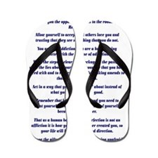 23X35AffirmationsTribal Flip Flops