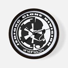clone logo black Wall Clock