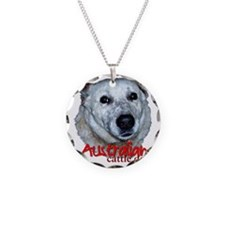 AustCattleDog Necklace Circle Charm