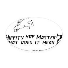 bun 2 Hippity300 copy Oval Car Magnet