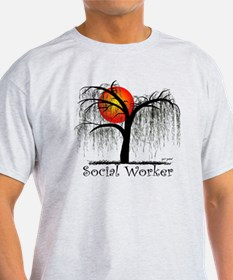 Social Worker Weeping Willow T-Shirt