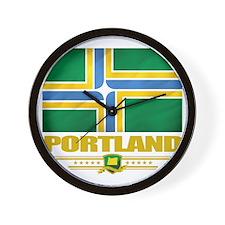 Portland (Flag 10) Wall Clock