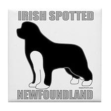 IrishSpottedNewfoundland2 Tile Coaster