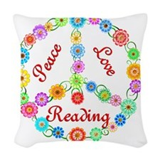 reading Woven Throw Pillow