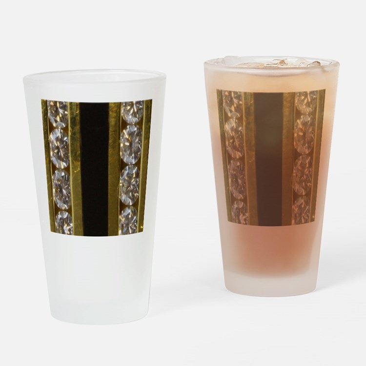 diamond_black_coral_gold_ring_stadi Drinking Glass
