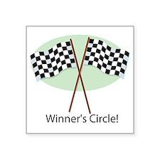 "winners circle Square Sticker 3"" x 3"""