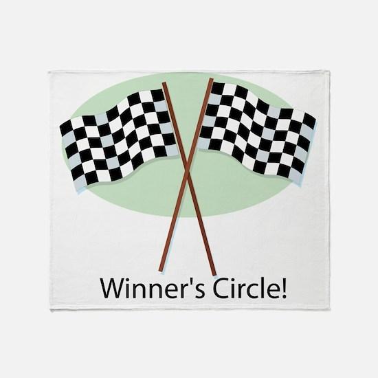 winners circle Throw Blanket