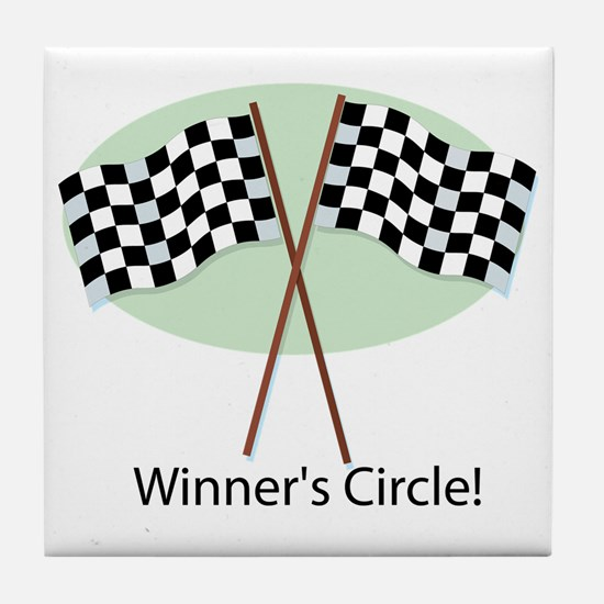 winners circle Tile Coaster
