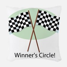 winners circle Woven Throw Pillow