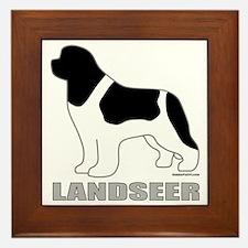 LandseerDog Framed Tile