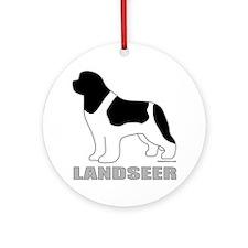 LandseerDog Round Ornament