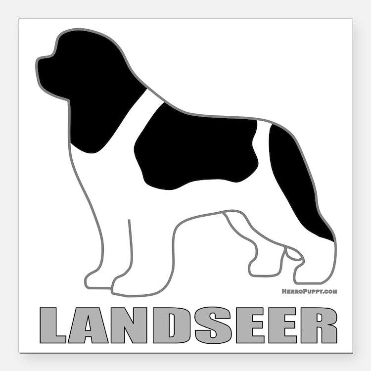 """LandseerDog Square Car Magnet 3"""" x 3"""""""
