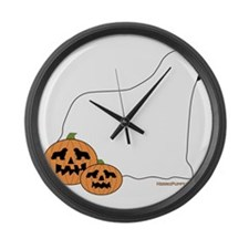 SpookyNewfie Large Wall Clock