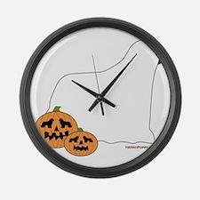 SpookyNewfie Large Wall Clock