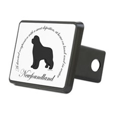 GrayNewfOval Hitch Cover