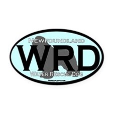 Newfoundland WRD Title Oval Car Magnet
