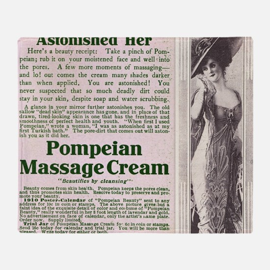 Pompeian Massage Cream Throw Blanket