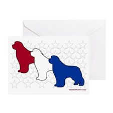 PatrioticNewfs Greeting Card