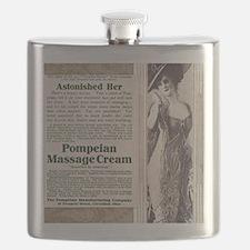 Pompeian massage cream ad Flask
