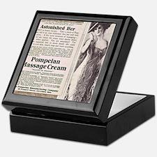 Pompeian massage cream ad Keepsake Box