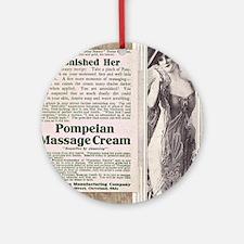 Pompeian massage cream ad Round Ornament