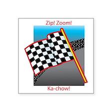 """zip zoom kachow Square Sticker 3"""" x 3"""""""