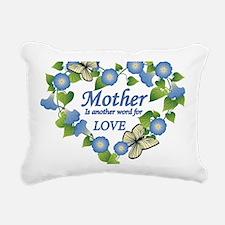 Mothers Love  Heart Rectangular Canvas Pillow