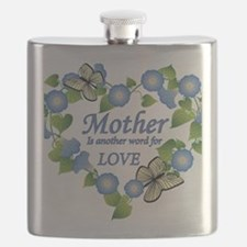 Mothers Love  Heart Flask