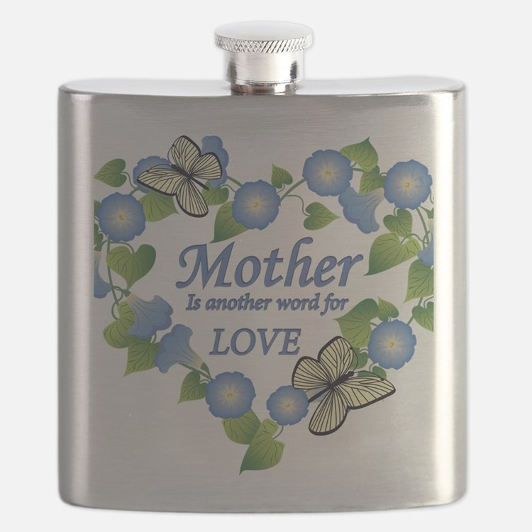Mothers Love  Heart Flask