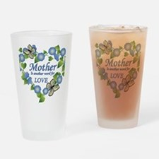 Mothers Love  Heart Drinking Glass