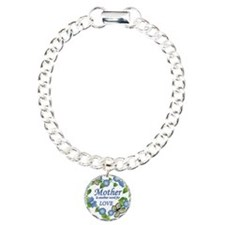 Mothers Love  Heart Charm Bracelet, One Charm