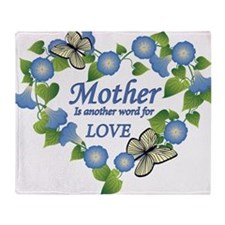 Mothers Love  Heart Throw Blanket