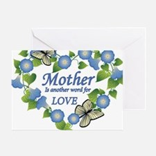 Mothers Love  Heart Greeting Card