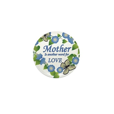 Mothers Love Heart Mini Button