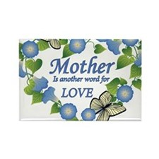 Mothers Love  Heart Rectangle Magnet