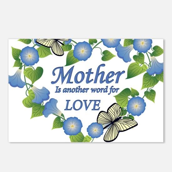 Mothers Love  Heart Postcards (Package of 8)