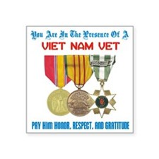 "presence of vn vet Square Sticker 3"" x 3"""