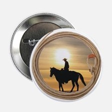 """lasso and cowboy 2.25"""" Button"""