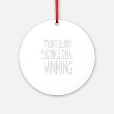 tiger blood adonis dna winningDARK Round Ornament