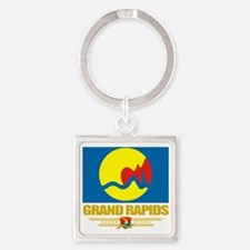 Grand Rapids (Flag 10) Square Keychain