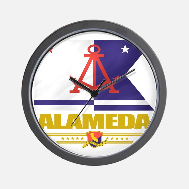 Alameda (Flag 10) Wall Clock