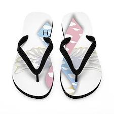 wingsribbon2 Flip Flops