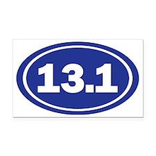 13.1 Oval Blue Rectangle Car Magnet