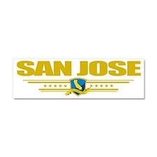 San Jose (Flag 10) pocket Car Magnet 10 x 3