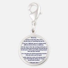 9x12AffirmationsTribal Silver Round Charm