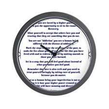 9x12AffirmationsTribal Wall Clock