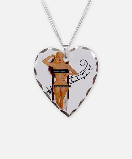 its not true! Necklace Heart Charm
